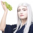 Deity with grape — Stock Photo