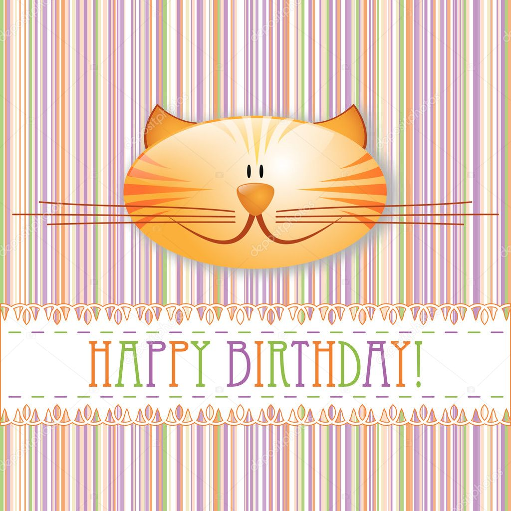 Happy birthday! greeting card — Stock Vector #5340047