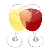 Red, white and rose wines — Stock Photo