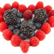 Heart from berries — Stock Photo