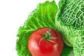 Tomate e repolho — Foto Stock