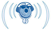 DJ Music Logo — Stock Vector