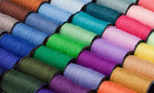 Closeup of multicolored threads — 图库照片