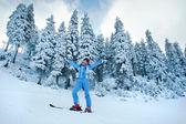 Joy of skiing — Stock Photo