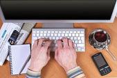 Luogo di lavoro presso l'ufficio — Foto Stock