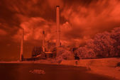 Infrared Power Plant — Stock Photo
