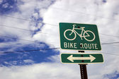 Bike Route Sign — Foto Stock