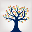 Royalty-Free Stock Vector Image: Colorful Tree