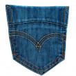 Stock Photo: Jeans pocket isolated