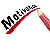 Motivation underlined in pencil — Stock Photo