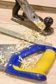 Carpenters tools — Stock Photo