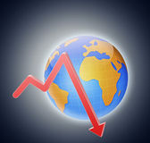 World economic crisis theme — Stock Photo