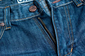 Jeans zipper close-up — Stockfoto