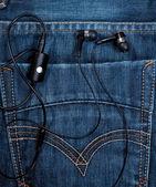 Auricolari in tasca — Foto Stock