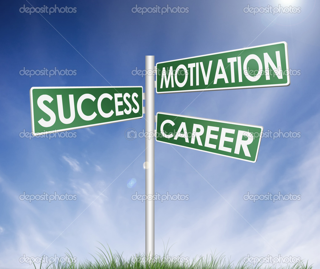Direction sign (tree) of success, motivation and career — Stock Photo #5343127