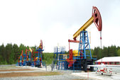 Pump jack, oil industry — Foto Stock