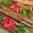 Meat kebabs - Stock Photo