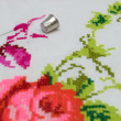 Cross stitch - Stock Photo