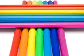 Rainbow from pensils — Stock Photo