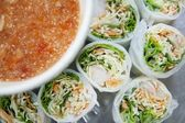 Delicious vietnamese rolls — Stock Photo