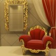 Royal furniture in a luxurious interior — Stock Photo