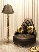 Luxurious furniture in design interior — Stock Photo