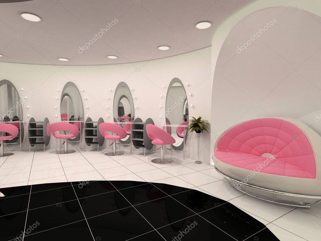 Interior of Professional beauty salon — Stock Photo ...