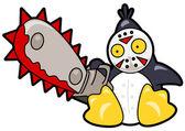 Scary penguin — Stock Vector