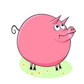 śmieszna świnia. — Wektor stockowy