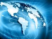 Melhor conceito de internet do negócio global de uma série de conceitos — Foto Stock