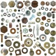 Big collection old rusty Screw heads, bolts, steel nuts,old metal nail — Stock Photo #5373889