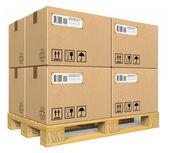 Cardboard boxes on pallet