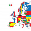 thumbnail of Card of Europe in the form of flags.Vector illustration