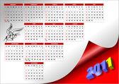 Eps 10 2011 calendar with American holidays