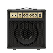 Vector guitar amplifier isolated on a white background