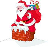 Santa Claus ereszkedik a kémény