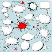 Comics style speech bubbles / balloons on background