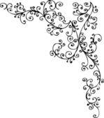 Baroque Frozen vignette 11 Eau-forte black-and-white decorative background pattern vector illustration EPS-8