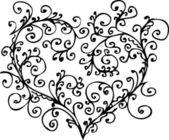Romantic Floral Refined vignette 1 Eau-forte black-and-white decorative background texture pattern vector illustration EPS-8
