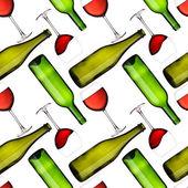 Flaschen und Gläser nahtlose Muster