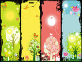 Vertical Easter banners with copy-space.