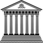 Greek temple stencil second variant