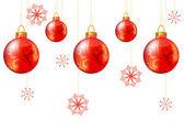 Bezešvé pozadí Vánoce s červenou koulí