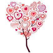 Jarní strom z velké srdce