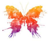 Acquerello farfalla isolato su sfondo bianco