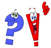 Cartoon question and exclamation marks