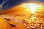 Tropical beach at sunset, Thailand