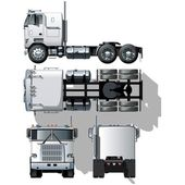 Vector hi-detailed semi-truck Available ai-10 vector format with transparency option in shadows