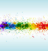 Color paint splashes Gradient vector background on blue and white background