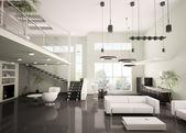 Moderní byt interiér 3d vykreslení